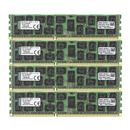 Kingston Technology 64 GB 1600 MHz DDR3 Reg ECC DIMM Memory for HP/Compaq Server (KTH-PL316K4/64G)