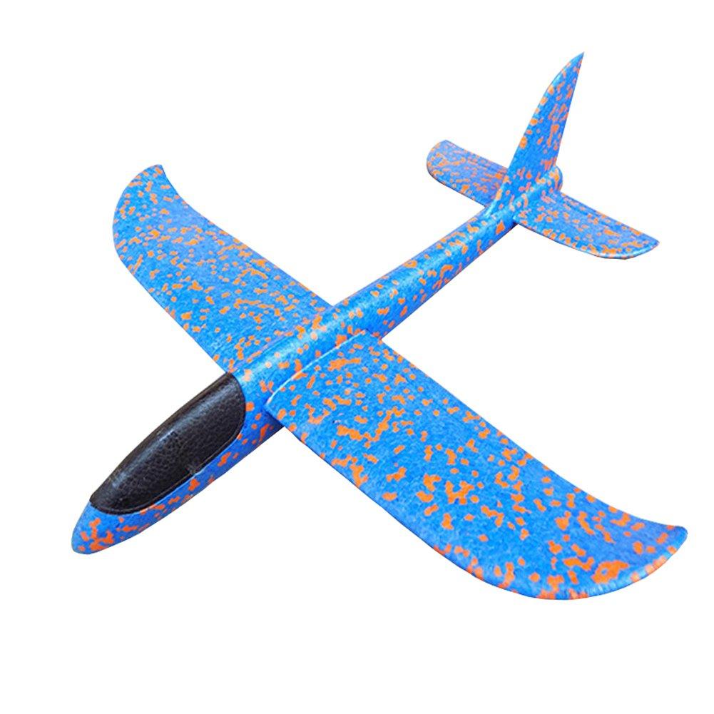 Kinder Flugzeug Spielzeug Outdoor Wurf Segelflugzeug Glider ca.38cm Blau MAKFORT
