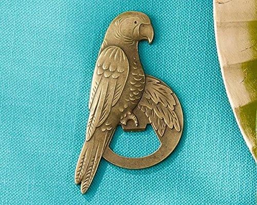 Kate Aspen 60 Antique Gold Parrot Bottle Openers