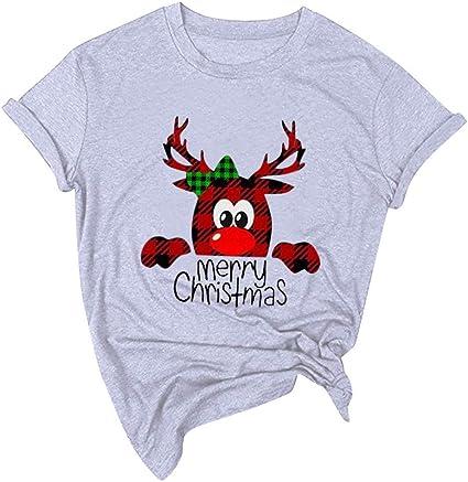 Camiseta Navidad de Moda para Mujer SUNNSEAN Camiseta de Año Nuevo, Feliz Camiseta de Navidad, Camiseta Gráfica Linda Dibujos, Camisetas Casual para Mujer, Camisas Tops de Navidad: Amazon.es: Instrumentos musicales