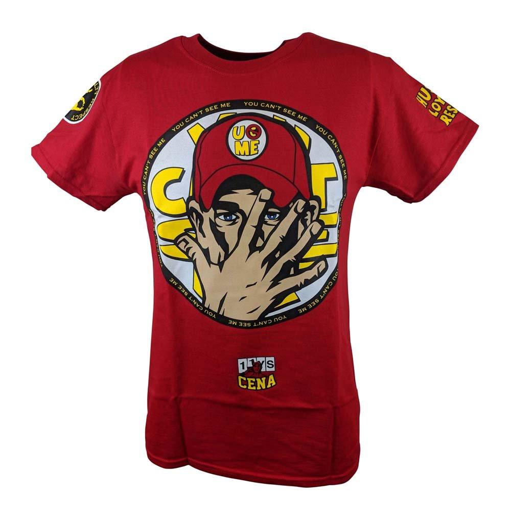 Hybrid Tees John Cena Boys Kids U Can't C Me 2014 Red T-Shirt-YM