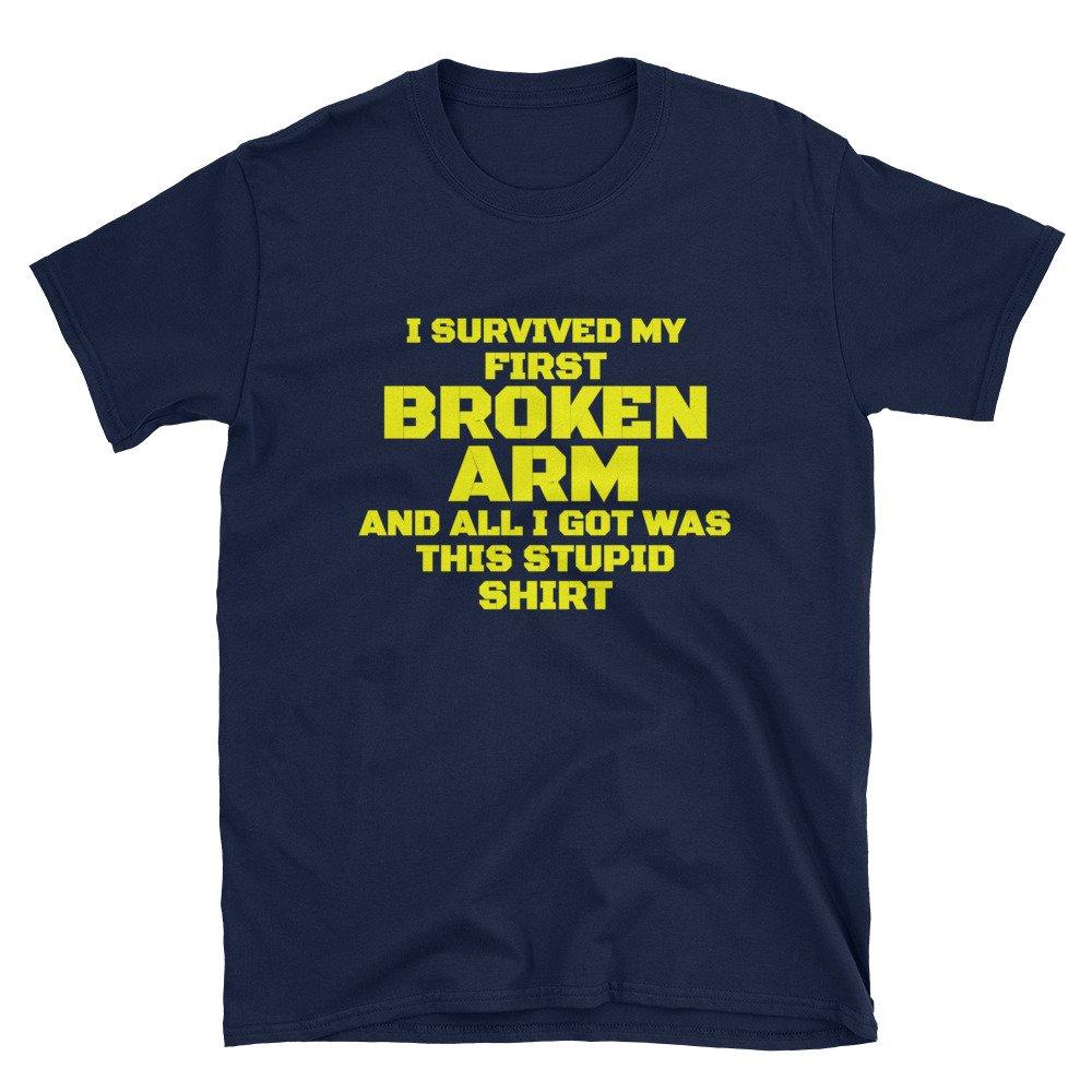 Broken ARM Survivor Hospital Recovery Gag Gift Get Well Soon Unisex T-Shirt