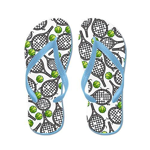 Cafepress Tennis - Flip Flops, Roliga Rem Sandaler, Strand Sandaler Caribbean Blue