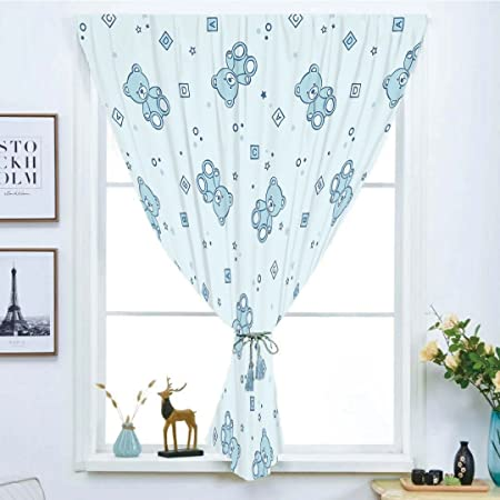Iprint Blackout Curtain Free Punching Magic Stickers Window Nursery Teddy Bears Toys Letters