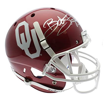 acb3e01a0 Image Unavailable. Image not available for. Color  Bob Stoops Autographed  Signed Oklahoma Sooners Full Size Schutt Replica Helmet - JSA Certified  Authentic