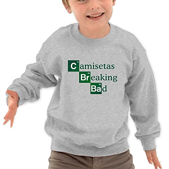 Puppylol Breaking Bad Kids Classic Crew-neck Pullover Hoodie Ash 2 Toddler