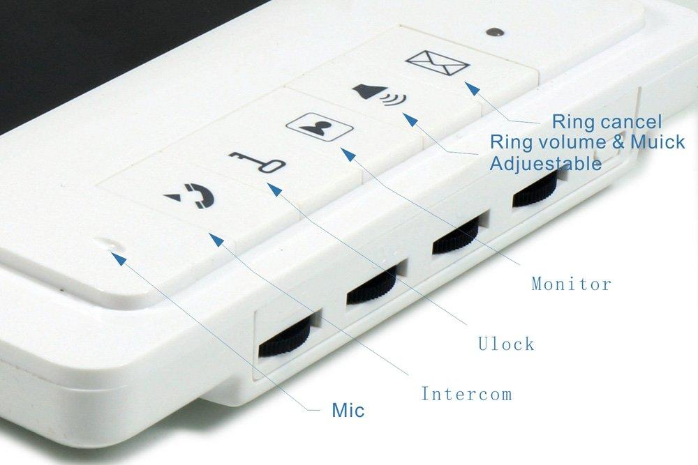 YuHan V70FL Home Wired Video Door Phone Audio Visual Intercom Entry Access System For House Villa 2 Doorbells