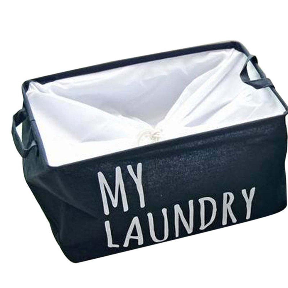 elepbaba Clothes Organizer Buckets Linen Cotton Storage Organizer Bag Home Laundry Products Hamper