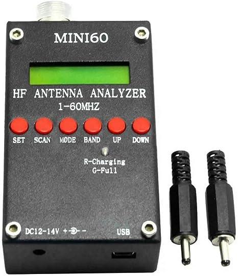 1 analizador de antena: Mini60S 1-60MHZ HF SWR antena ...