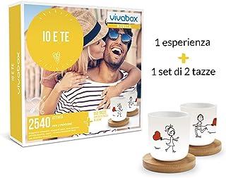 VIVABOX Cofanetto Regalo - IO E Te - 2540 ATTIVITA' per 2 Persone + 1 Set di 2 Tazze