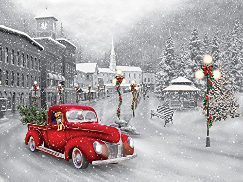 Vermont Christmas Company Holiday Ride Jigsaw Puzzle 550 Piece