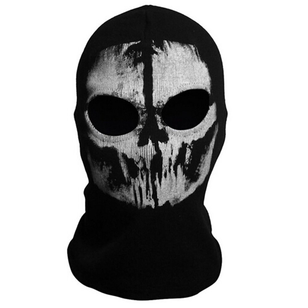 Burbank Burbank Call of Duty 10Cod Ghost Hoods Totenkopf Skelett Kopf Maske Sturmhaube Logan Skifahren Airsoft Paintball Spiel Cosplay Totenkopf-Maske Kapuze Biker Bele