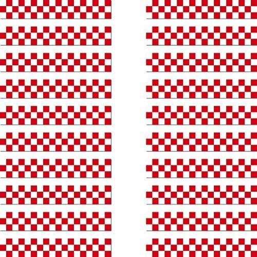 GreenIT 20 Aufkleber 6,5cm Racing Streifen rot Zielflagge RC Modellbau Mini Sticker Modellbauaufkleber