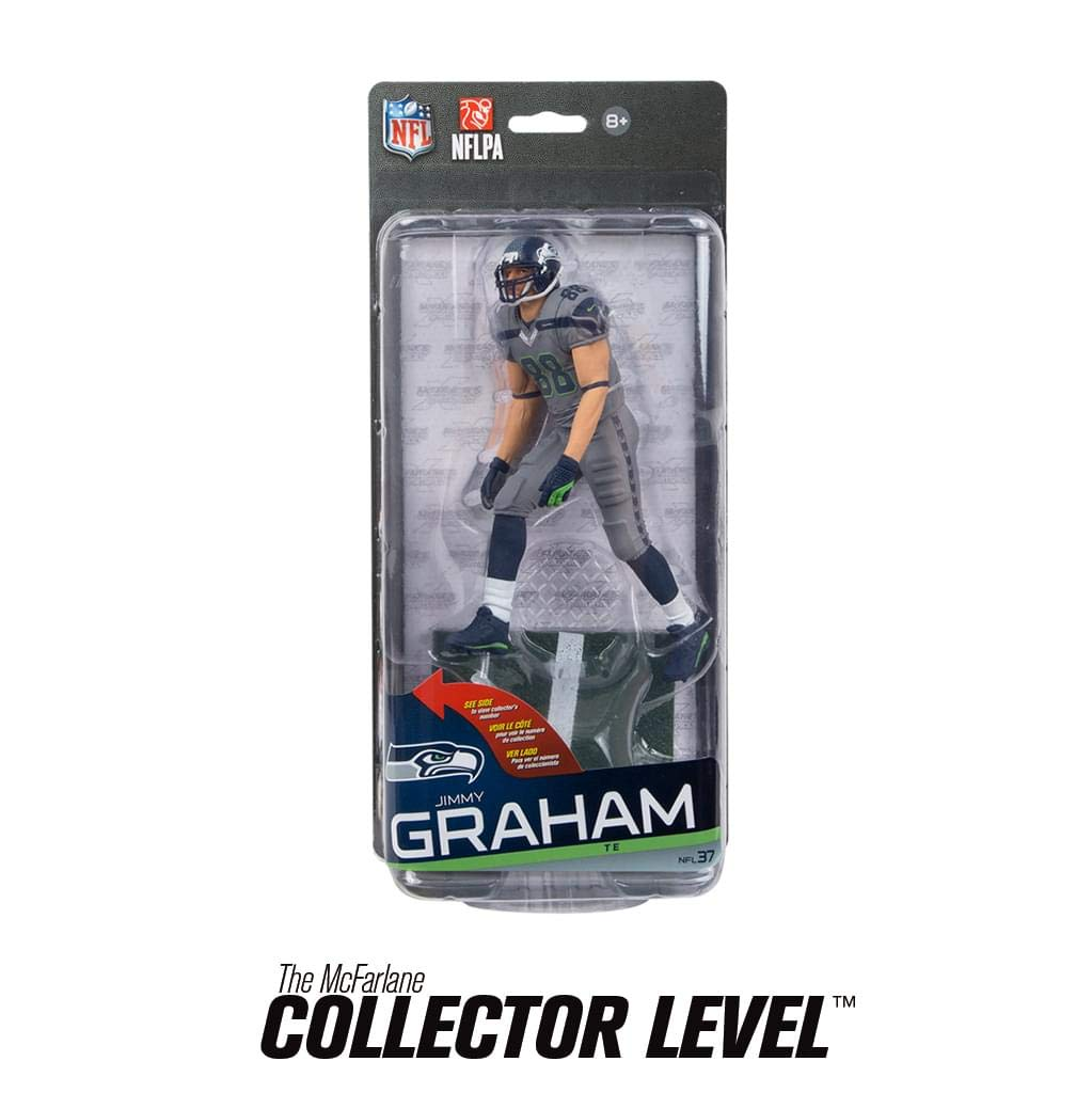 Seattle Seahawks McFarlane NFL Series 37 Figure Jimmy Graham Grey Uniform Chase Mcfarlane Toys