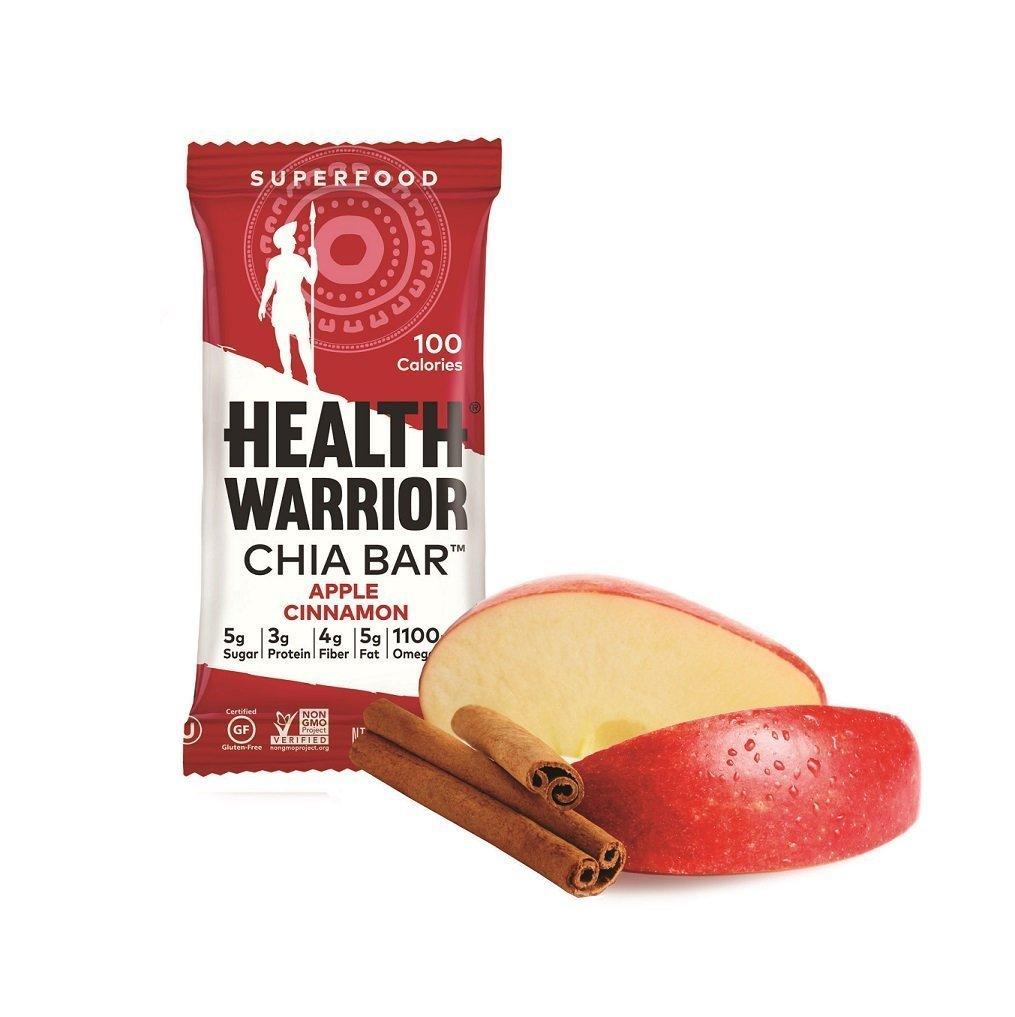 Health Warrior Chia Bars, Apple Cinnamon, 13.2-Ounce (4-Pack of 15)