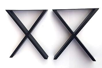 Alpha muebles pata para mesa con negro, patas de metal para mesa ...