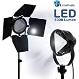 LimoStudio Premium Barn Door LED Accent Light 4500Lm / 5700K / 50W with Power Cable,