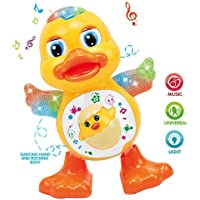 Funnytool Musical Toy for Kids ( Dancing Duck Toy with Real Dance Action and Music Flashing Lights, Multi Color )