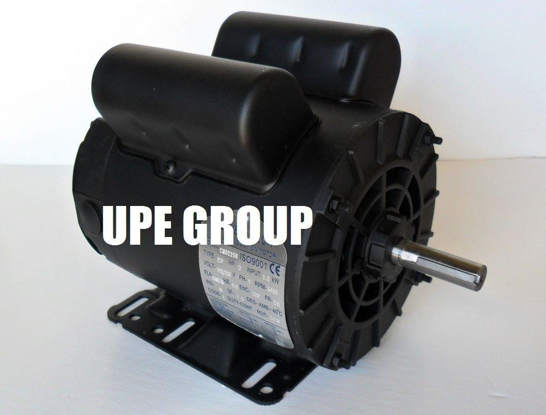 2 hp 1ph Electric Motor 56 frame 5/8'' shaft 3450 RPM 110 / 208-230 VOLT ODP