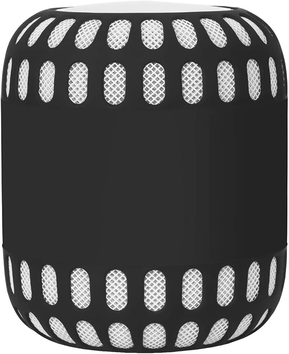 Oriolus Silicone Case Cover for Apple HomePod Smart Speaker (Black)