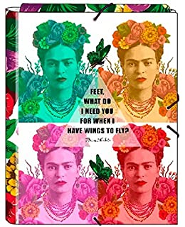 Safta Estuche Frida Kahlo Oficial Escolar Con Bolsillo ...