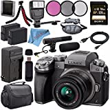 Panasonic Lumix DMC-G7 Mirrorless Camera with 14-42mm Lens (Silver) DMC-G7KS + 46mm 3 Piece Filter Kit + DMW-BLC12 Lithium Ion Battery + External Rapid Charger + Sony 128GB SDXC Card Bundle
