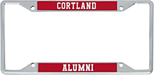 SUNY Cortland State University of New York Red Dragons Metal License Plate Frame for Front or Back of Car Officially Licensed (Alumni)