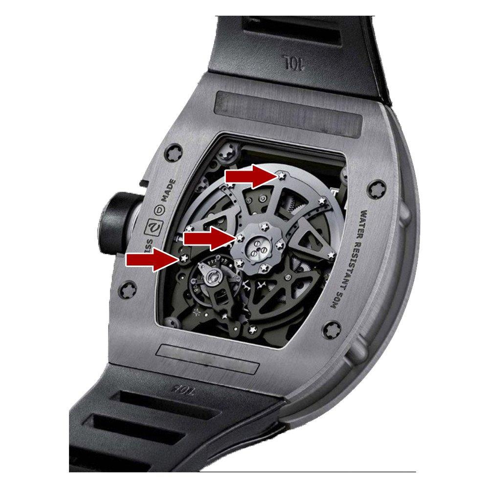 5 puntas destornillador de precisión para Richard Mille Reloj Movimiento/Mecanismo Herramientas de tornillo: Amazon.es: Relojes