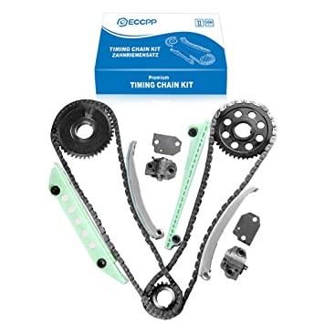 ECCPP TK6046W Timing Chain Kit Tensioner Guide Rail Cam Gear crank sprocket  Replacement for 1997 1998 1999 Ford F-150 Explorer Expedition 2000 2002
