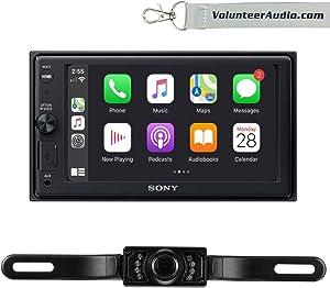 Sony XAV-AX1000 Double Din Radio Install Kit With Apple CarPlay, SiriusXM Ready, Free Reverse Backup Camera
