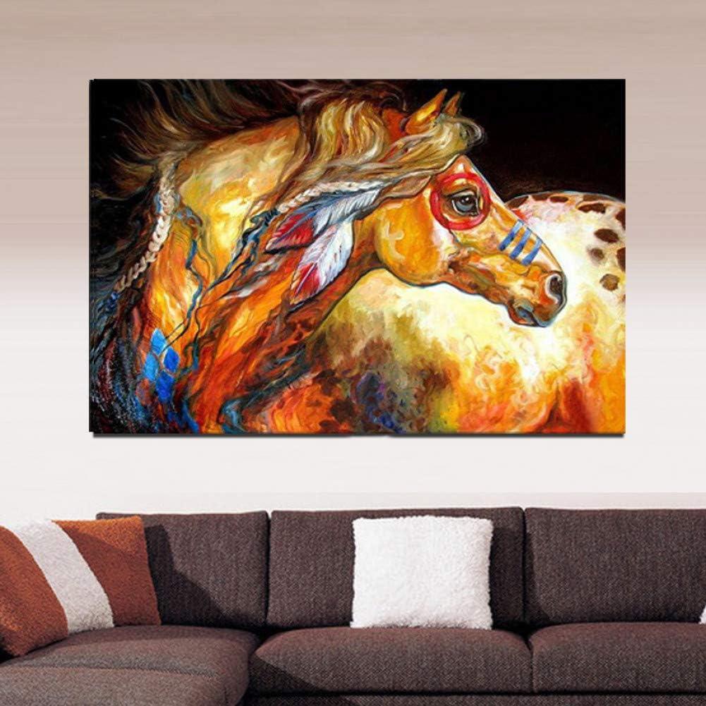 WZYWLH Arte Decorativo Hecho A Mano AnimalCaballo Pintura Al Óleo sobre Lienzo Sala De Estar Decoración del Hogar Pinturas Murales Cuadros De Animales