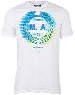 Marshall Artist White Vert Stripe Logo T-Shirt