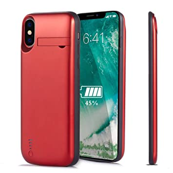 Cofuture Funda Bateria para iPhone X, Recargable 4000mAh Cargador Batería Extra Ultra Delgado Refrigeración del Teléfono Potencia iPhone Móvil ...