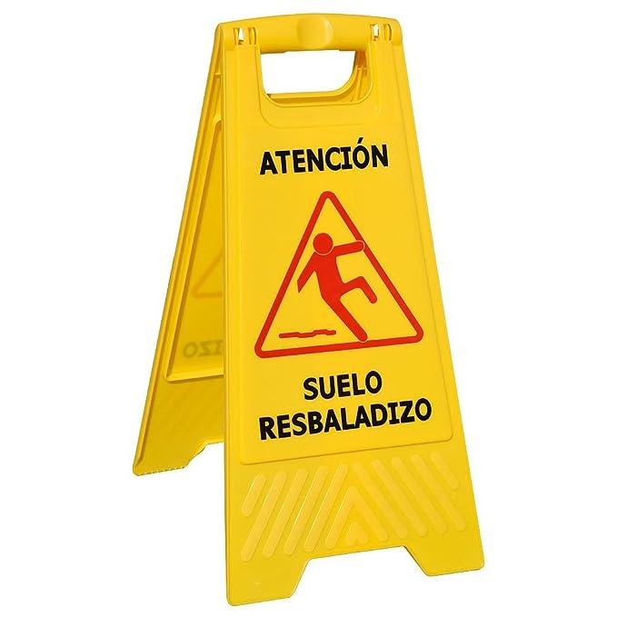 WOLFPACK 15050430 - Cartel Atencion Suelo Mojado 64x30 cm
