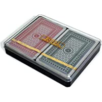 Non- toxic Royal Washable 100% All Plastic Playing Cards - Twin Pack [TCTY-PG005-4]