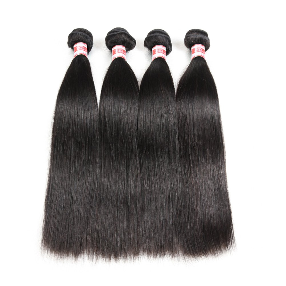 Amazon Hermosa Brazilian Straight Hair 4 Bundles With Closure