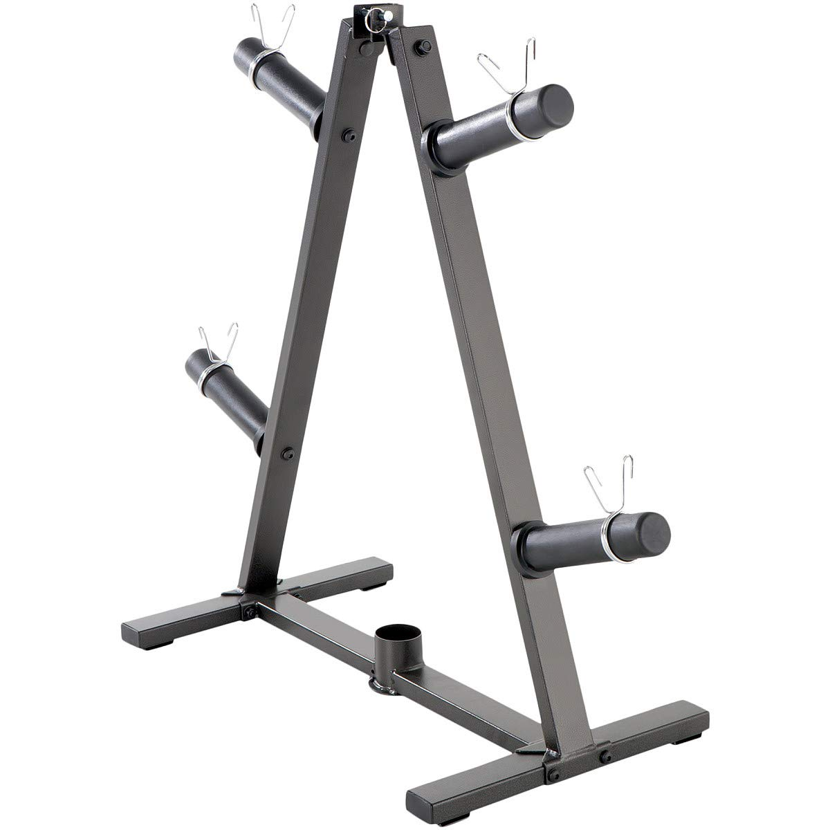 Marcy A-Frame Olympic Weight Plate Tree & Vertical bar Holder Organizer Storage Rack for 2-Inch Free Weights PT-5740