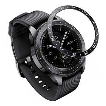 XIHAMA Bezel Ring Compatible for Samsung Galaxy Watch 42mm / Gear Sport, Stainless Steel Bezel Styling Circle Adhesive Protection Anti Scratch ...