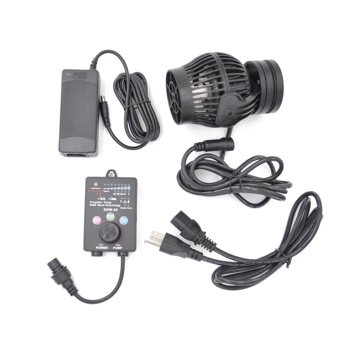 Jebao SOW Wave Maker Flow Pump with Controller for Marine Reef Aquarium (SOW-20) by Jebao
