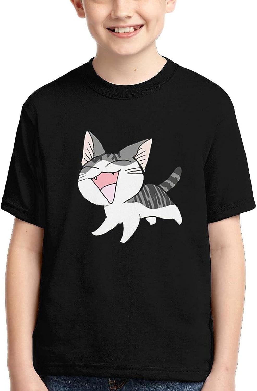 Chi'S Sweet Home Short Sleeves T-Shirt Cartoon Anime Fashion Tee Shirts Boys Girls Teensxl Black