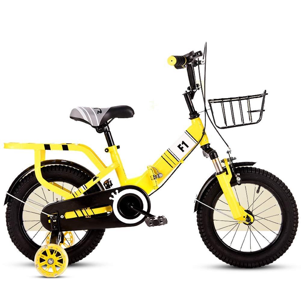 Tu satisfacción es nuestro objetivo amarillo 18in YUMEIGE Bicicletas Bicicleta Bicicleta Bicicleta para niños Freestyle y para niños Bicicleta Infantil Plegable 4 Colors 12 14  16 18  con Rueda de Entrenamiento Disponible (Color   rojo, Talla   16in)  envío gratuito a nivel mundial