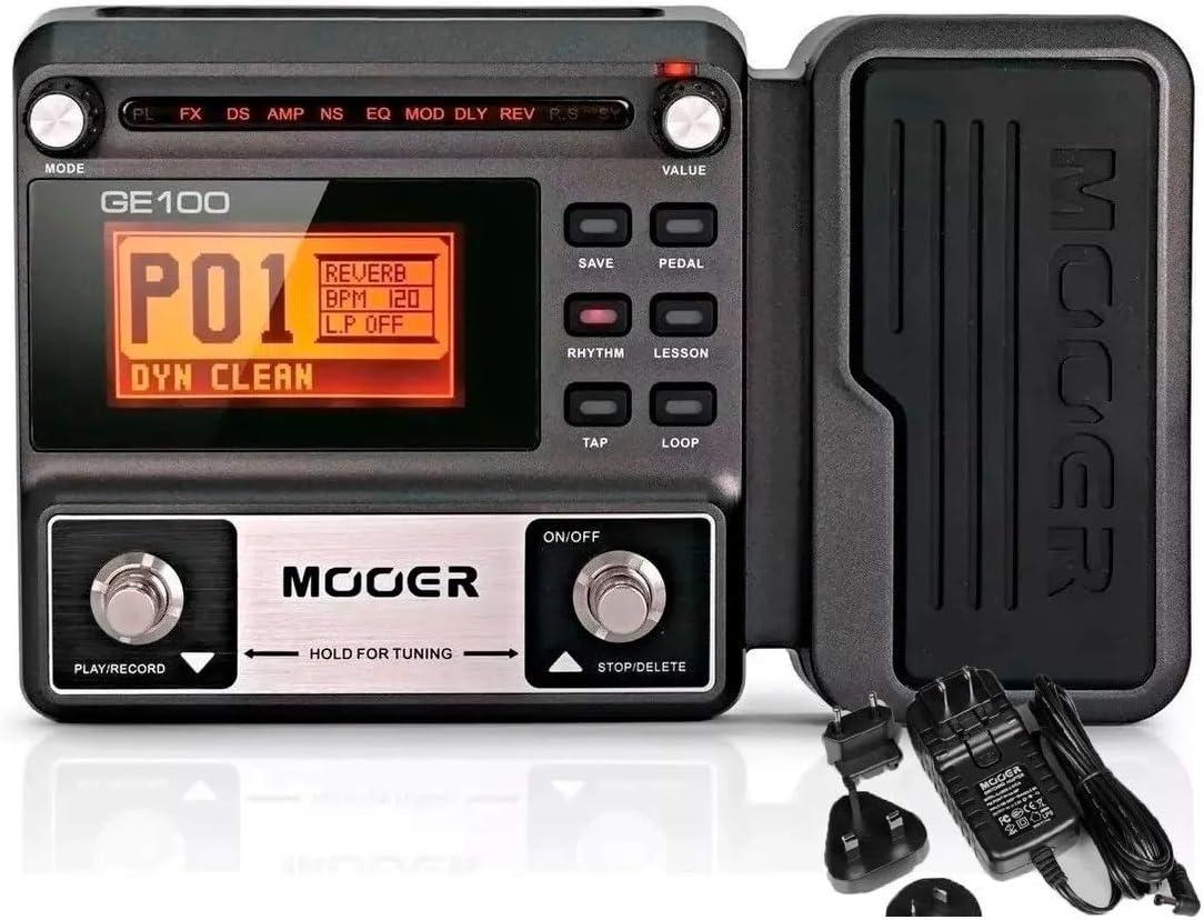 Mooer Ge100 Multi Procesador De Efectos Guitarra W 2 Cables Musical Instruments Amazon Com