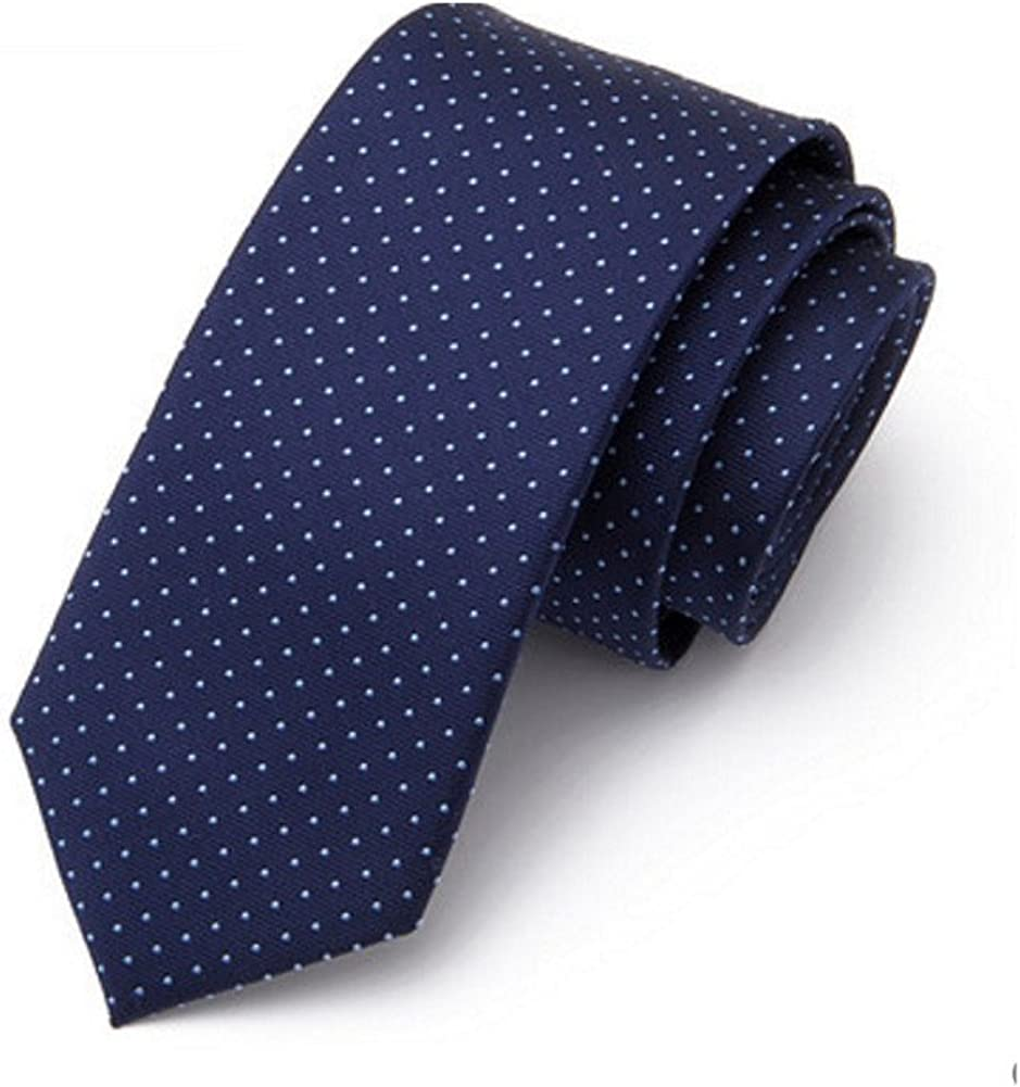 Corbata slim skinny para hombre Raya Color sólido Lunares Corbata ...