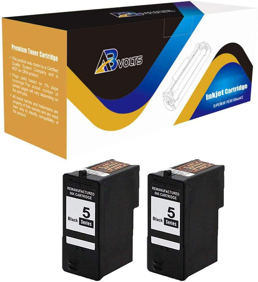 Black,2-Pack AB Volts Remanufactured Ink Cartridge Replacement for Dell M4640 for 922 924 942 944 946 962 964 922 924 942 944 962 964