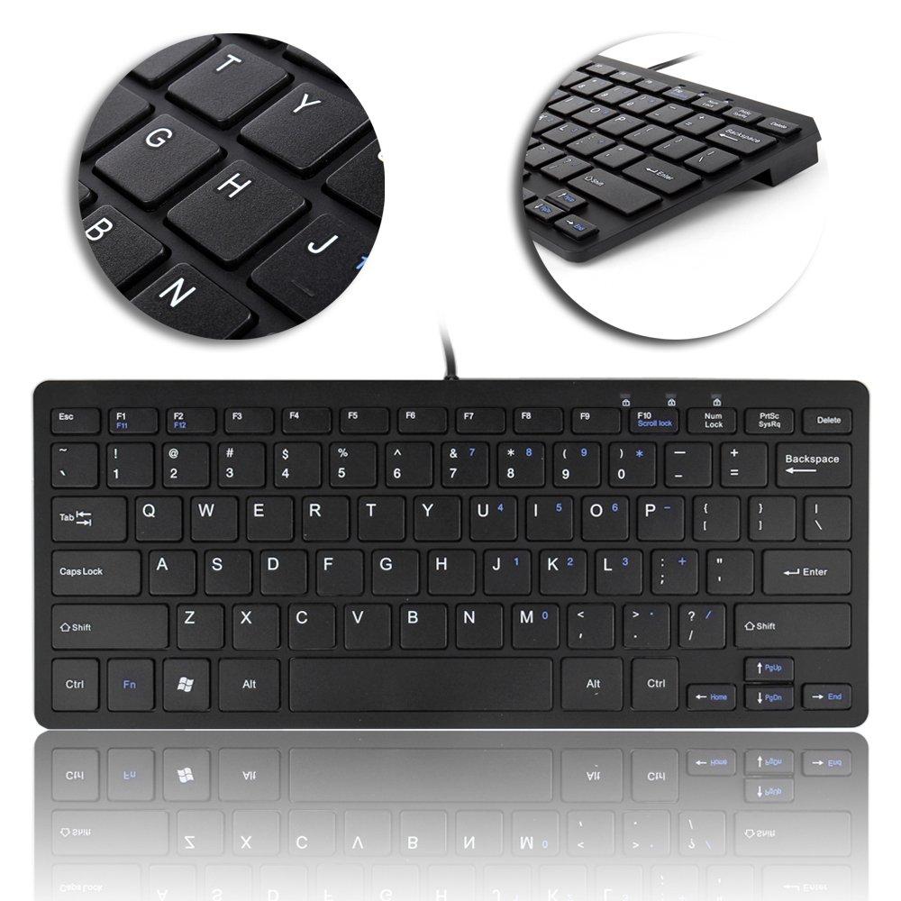 Amazon com: TNP USB Mini Keyboard (Black) Ultra Slim