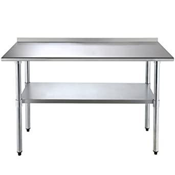 SUNCOO FT Food Preparation Kitchen Catering Table Stainless - 5 ft stainless steel table