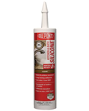 DuPont 07622 9.8-Ounce Premier Kitchen and Bath Silicone, Clear ...