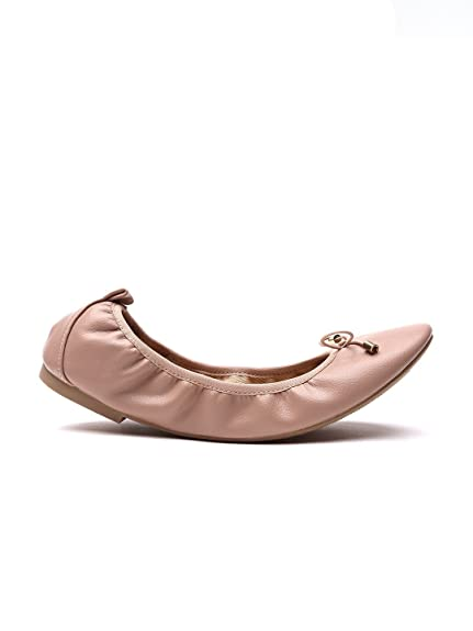 d1b79d0ac4a5a1 New Look Women Nude-Coloured Foldable Ballerinas  Buy Online at Low ...