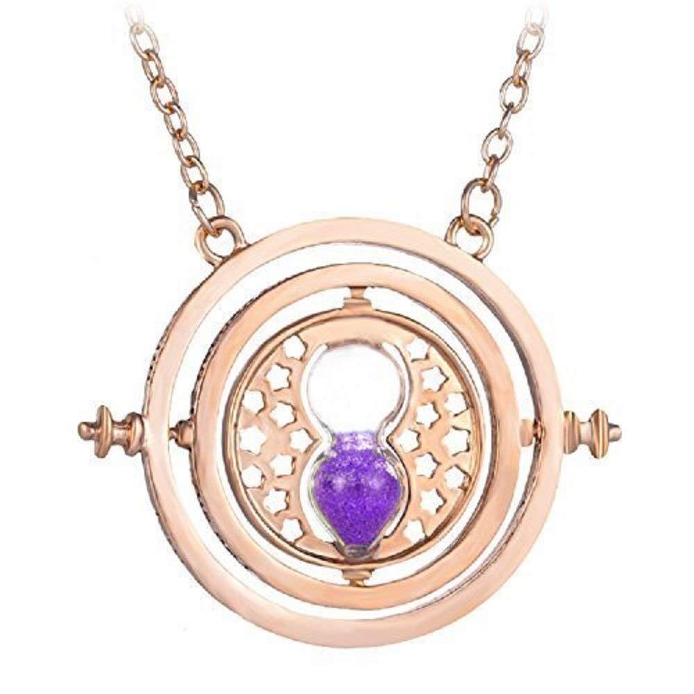 Sablier Purple Sand Inception Pro Infinite Collier Horloge Couleur Or
