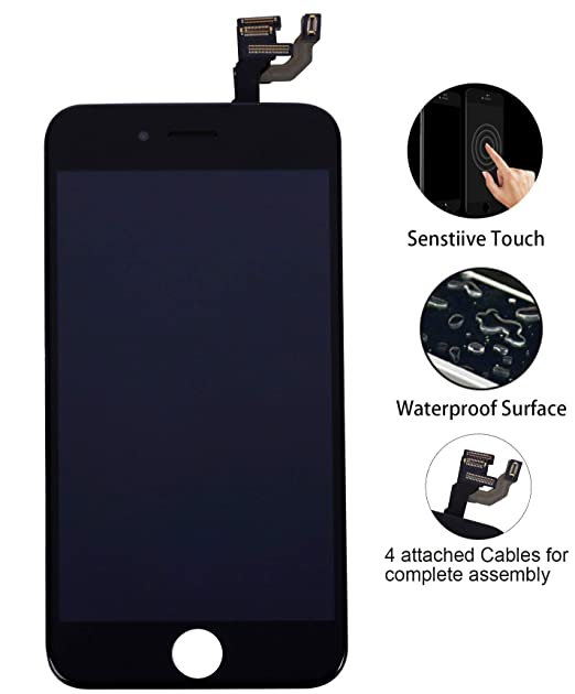 brand new a4317 73bf5 for iPhone 6 Screen Replacement Black 4.7
